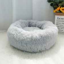 Warm Dog Cat Calming Cave Beds Soft Plush Round Nest Pet Comfy Sleeping Kennel