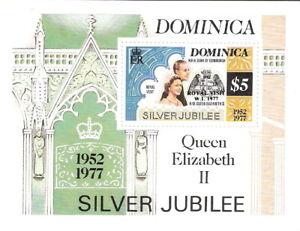 Dominica 1977 25th Anniv Coronation Queen Elizabeth Souvenir Sheet MNH (SC# 526)