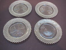 """1930's Hocking Glass Miss America crystal 4-5 3/4"""" D B&B plates-excond"""
