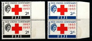 "Fiji 1963 ""Red Cross"" full set of 2 sg333/4 in margin pairs u/m/m."