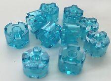 *NEW* 10 Pieces Lego 2x2 ROUND Brick TRANS LIGHT BLUE