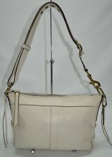 Coach Legacy Leather Duffle Bag In White Zip Convertible Shoulder Bag 10559