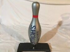 Stroh's Light Bowling pin tap