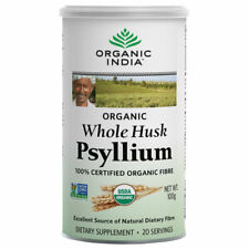 Organic India Whole Husk Psyllium 100gm Cannister Organic Dietary Fiber USDA