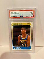 1988 Fleer Reggie Miller Indiana Pacers Basketball Card HOF PSA NM 7 Rookie #57