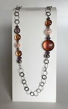 Antica Murrina Just 1--Murano Glass Long Necklace+Matching Earrings