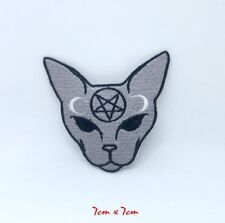 Banned Apparel Iron On Patch Occult Devil Kitty 6 cm tall goth cute