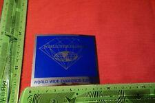 Alter Aufkleber WORLD WIDE DIAMONDS EUROPA