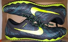Nike Rival XC Racing Grind Cleats Spikes 749349-370 Teal/Black/Volt Sz 4.5