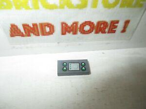 Lego - 1x Tile Decorated 1x2 Radar Screen 4 Green Light Pattern 70601 3069bpb510