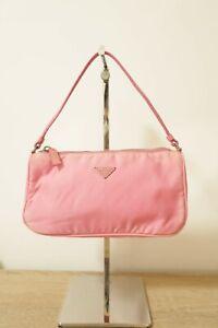 Authentic PRADA Nylon Tessuto Sport Mini Pink hand hobo bag #8999