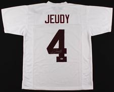 Jerry Jeudy Autographed Alabama White Jersey - Signed Beckett BAS
