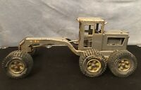 Vintage Yellow Painted Silver Tonka Truck Road Grader Construction Equipment Toy
