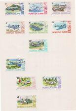 (Q55-19) 1980 Norfolk Island part 11set plane stamps 1c to $2 (S)