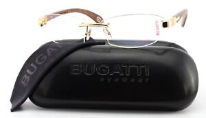 Bugatti Glasses 518 003 XL Kotibé Exotic Wood Gabon 22KT Gold Frame France +