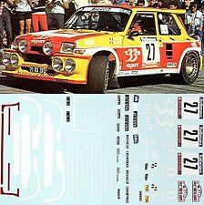 Renault 5 Turbo Maxi Tour de Corse 1985 Didiér Auriol #27 - 1:24 Decal Abziehbil