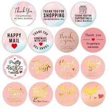 500pcs/roll Pink Thank You Stickers Wedding Package Seal Labels DIY Handmade