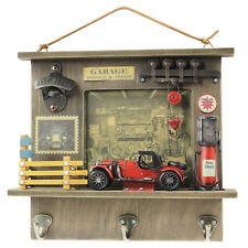 Parete Montato Porta Design Vintage Garage 3 Key Holder Hanger Rack da Appendere Ganci