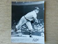 "BOB FELLER CLEVELAND INDIANS SIGNED 8x10 PHOTO w/ ""HOF 62"" INSCRIPTION"