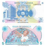 Uganda 5 Shillings ND (1979) P-10 Banknotes UNC