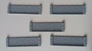 5 x N Gauge Small Retaining Wall Model Railway Brick Detail