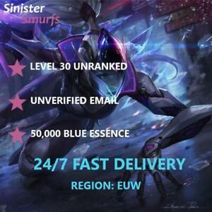 EUW League of Legends Account Smurf IP Level 30 Cheap instant BEST VALUE