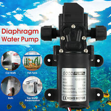 12V DC 70W High Pressure Diaphragm Water Pump Automatic Switch 130PSI 6L/min