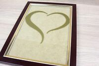 Love Heart For Photo Frame Picture A5 Sticker Vinyl Decal Adhesive Wedding GOLD