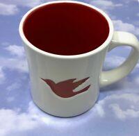 Starbucks 2008 Ceramic Coffee Mug Cup Imprinted Red Dove Bird Christmas12 fl. oz