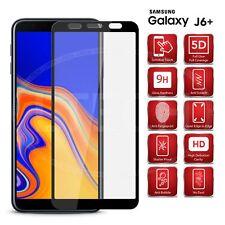 For Samsung Galaxy J6 Plus / SM-J610F - Full Glue Glass Screen Protector [Black]