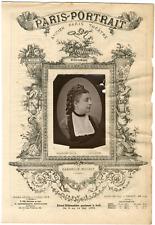 Lemercier, Paris-Portrait, Gabrielle Moisset, chanteuse Vintage albumen Print