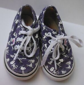 Vans PEANUTS Snoopy Skating Shoes Authentic Blue SKATEBOARD Toddler 5.5