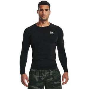 Under Armour Men's Armour HeatGear Compression Long-Sleeve Tee , Black, X-Large