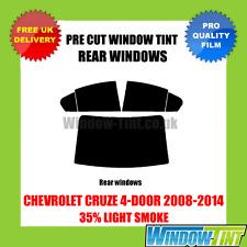 CHEVROLET Cruze 4-door 2008-2014 35% lumière arrière pré cut fenêtre teinte
