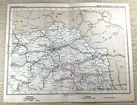 1905 Antik Eisenbahn Map Of Austro Hungarian Schienen Routen Lemberg Brody