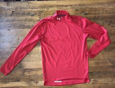Under Armour Cold Gear Mens Sz Small Fitted Shirt Base Layer Red Mock Turtleneck