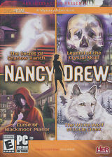 NANCY DREW 4 PACK - Shadow Ranch, Crystal Skull, White Wolf, Blackmoor Manor NEW