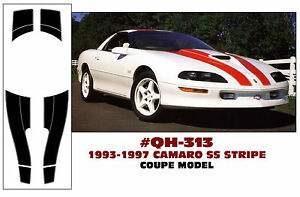 GE-QH-313 1993-97 CHEVY CAMARO SS - COUPE OR T-TOP - STRIPE KIT - NO ROOF STRIPE