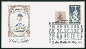 MayfairStamps US FDC Unsealed 1995 Babe Ruth Baseball First Day Cover wwp68265