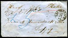 LAUTERBACH 1860 ca WERTBRIEF nach LEIPZIG (J4061