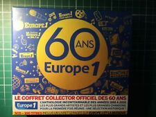 EUROPE N°1 RARE Coffret Collector des 60 Ans| 5CD | 100 Tracks neuf Blister $