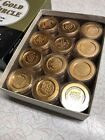 NOS New Old Stock Vintage Gold Circle Coin Prophylactic Condoms Full Box USA