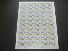 Barbuda 1968 Fishes 50c MNH Complete Full Sheet Cyl 1A-1A #S16