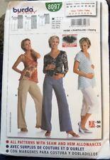 New Uncut BURDA Pattern #8097 Pants & Capris Women 10 12 14 16 18 PLUS 20 22 24