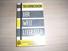 Taschenlexikon der Weltliteratur Humboldt TB Ver. Lebendiges Wissen München 1960