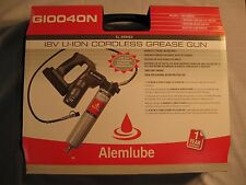 ALEMLUBE CORDLESS GREASE GUN 18 VOLT WITH 2 Lithium-ion, New version (G10040N)