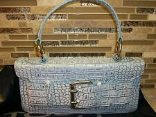 TOSCA BLU Blue Leather/ Reptile Skin HANDBAG/PURSE Italy~New with Tags!