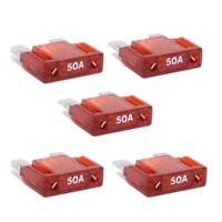 50 amp Maxi Fuse x 5 Red Dual Battery Camping Electrical Caravan Trailer