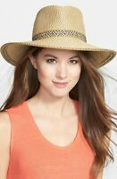 * NWT Eric Javits 'Georgia' Woven Hat - Brown Peanut 13802 One Size UPF50+