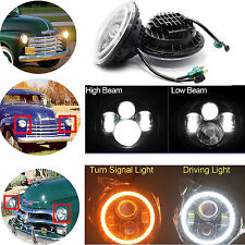 "7"" Inch Led Headlight (x2) DRL Bulbs Lamps For 1947-1957 CHEVY GMC PICKUP Truck"